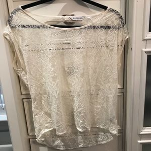 Express Lace Open-Back Tee
